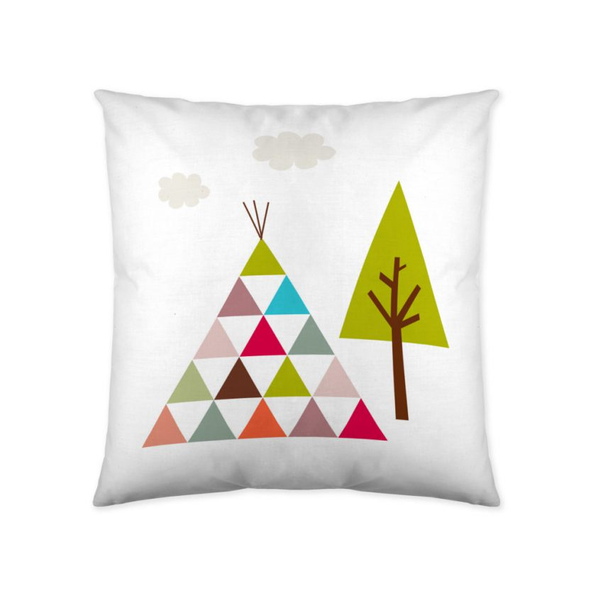 Cojín infantil reversible Tipi india