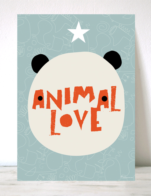 lámina infantil animal love